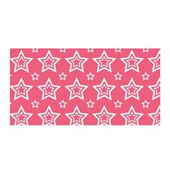 Star Pink White Line Space Satin Wrap