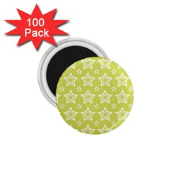 Star Yellow White Line Space 1 75  Magnets (100 Pack)