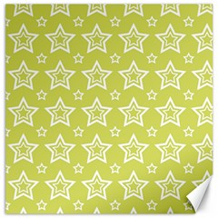 Star Yellow White Line Space Canvas 16  x 16