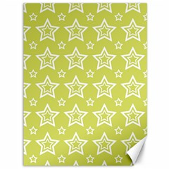 Star Yellow White Line Space Canvas 36  x 48