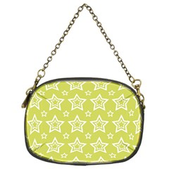 Star Yellow White Line Space Chain Purses (Two Sides)