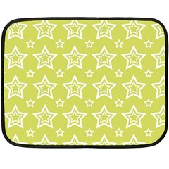 Star Yellow White Line Space Double Sided Fleece Blanket (mini)