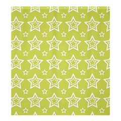 Star Yellow White Line Space Shower Curtain 66  x 72  (Large)