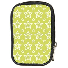 Star Yellow White Line Space Compact Camera Cases