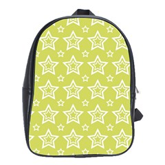Star Yellow White Line Space School Bags(Large)