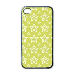 Star Yellow White Line Space Apple iPhone 4 Case (Black)