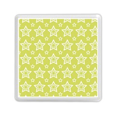 Star Yellow White Line Space Memory Card Reader (Square)