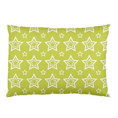 Star Yellow White Line Space Pillow Case (Two Sides)