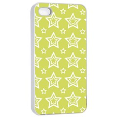Star Yellow White Line Space Apple Iphone 4/4s Seamless Case (white)
