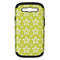 Star Yellow White Line Space Samsung Galaxy S III Hardshell Case (PC+Silicone)