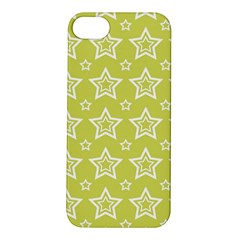 Star Yellow White Line Space Apple iPhone 5S/ SE Hardshell Case