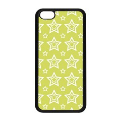 Star Yellow White Line Space Apple iPhone 5C Seamless Case (Black)