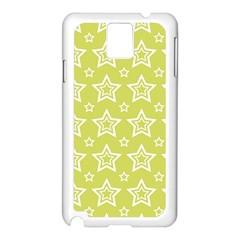 Star Yellow White Line Space Samsung Galaxy Note 3 N9005 Case (White)