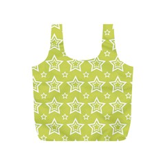 Star Yellow White Line Space Full Print Recycle Bags (S)