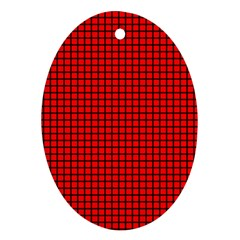 Red And Black Ornament (Oval)