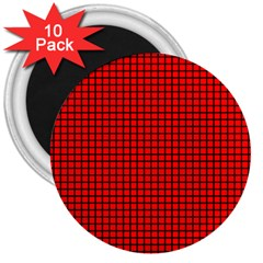 Red And Black 3  Magnets (10 pack)