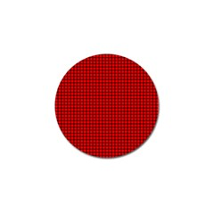 Red And Black Golf Ball Marker