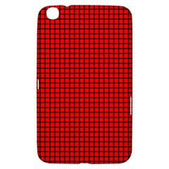 Red And Black Samsung Galaxy Tab 3 (8 ) T3100 Hardshell Case