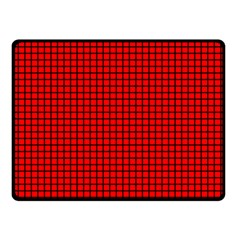 Red And Black Double Sided Fleece Blanket (Small)
