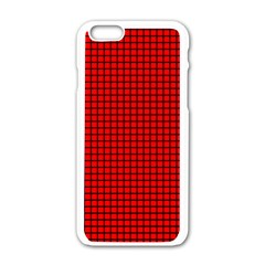 Red And Black Apple iPhone 6/6S White Enamel Case