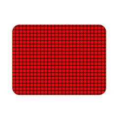 Red And Black Double Sided Flano Blanket (Mini)