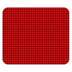 Red And Black Double Sided Flano Blanket (Small)