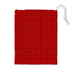 Red And Black Drawstring Pouches (Extra Large)