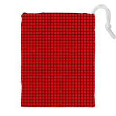 Red And Black Drawstring Pouches (XXL)