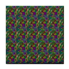 Pattern Abstract Paisley Swirls Tile Coasters