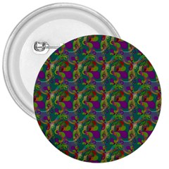 Pattern Abstract Paisley Swirls 3  Buttons