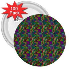 Pattern Abstract Paisley Swirls 3  Buttons (100 Pack)