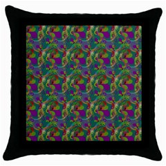 Pattern Abstract Paisley Swirls Throw Pillow Case (black)