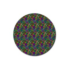 Pattern Abstract Paisley Swirls Rubber Coaster (Round)
