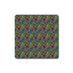 Pattern Abstract Paisley Swirls Square Magnet
