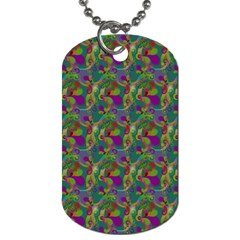 Pattern Abstract Paisley Swirls Dog Tag (Two Sides)