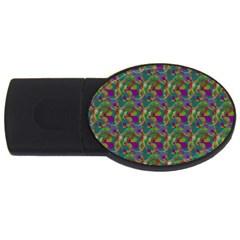 Pattern Abstract Paisley Swirls Usb Flash Drive Oval (2 Gb)