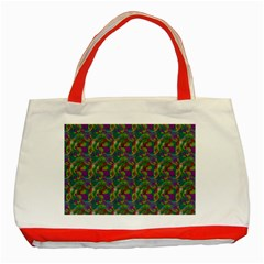 Pattern Abstract Paisley Swirls Classic Tote Bag (Red)
