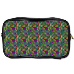 Pattern Abstract Paisley Swirls Toiletries Bags 2 Side