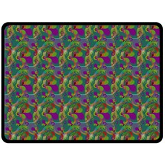 Pattern Abstract Paisley Swirls Fleece Blanket (Large)