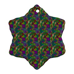 Pattern Abstract Paisley Swirls Snowflake Ornament (two Sides)