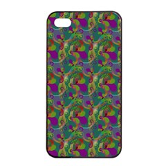 Pattern Abstract Paisley Swirls Apple iPhone 4/4s Seamless Case (Black)