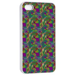 Pattern Abstract Paisley Swirls Apple iPhone 4/4s Seamless Case (White)