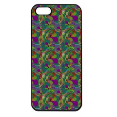 Pattern Abstract Paisley Swirls Apple iPhone 5 Seamless Case (Black)