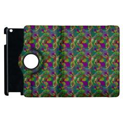 Pattern Abstract Paisley Swirls Apple iPad 3/4 Flip 360 Case