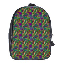 Pattern Abstract Paisley Swirls School Bags (XL)