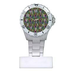 Pattern Abstract Paisley Swirls Plastic Nurses Watch