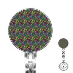 Pattern Abstract Paisley Swirls Stainless Steel Nurses Watch