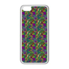Pattern Abstract Paisley Swirls Apple Iphone 5c Seamless Case (white)