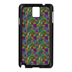 Pattern Abstract Paisley Swirls Samsung Galaxy Note 3 N9005 Case (Black)
