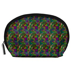 Pattern Abstract Paisley Swirls Accessory Pouches (Large)